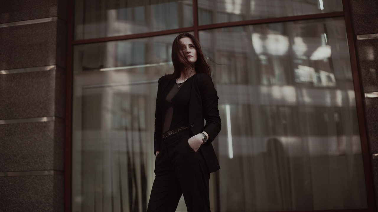 outfit donna total black